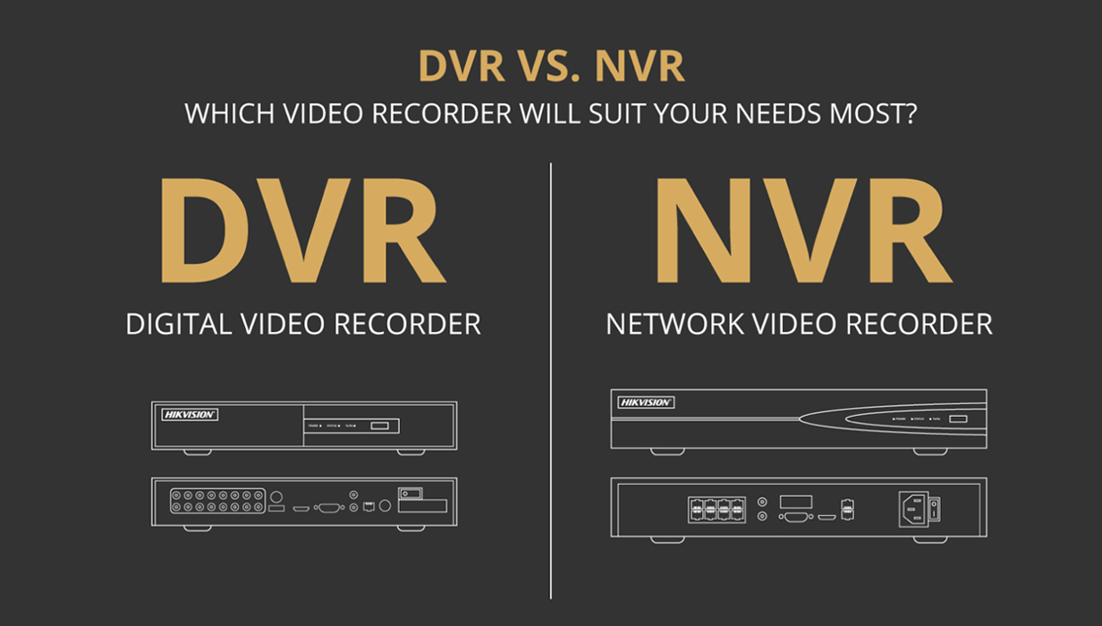 DVR vs NVR - What is NVR in CCTV and What does DVR stands for?